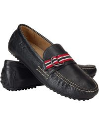 Polo Ralph Lauren Wilem Leather Ribbon Loafers - Lyst