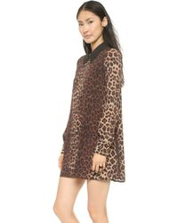 Flynn Skye Kitty Mini Dress  Leopard - Lyst