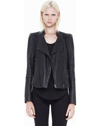 Helmut Lang Wither Fitted Leather Jacket - Lyst