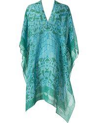 Theodora & Callum Short Sleeve Ubud Caftan blue - Lyst