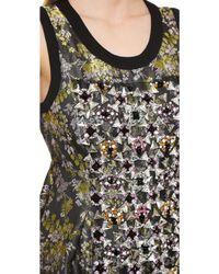 Vera Wang Collection - Swarovski Panel Jacquard Dress - Blush - Lyst