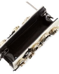 Alice + Olivia Carole Beaded Applique Clutch Bag Alice Olivia - Lyst