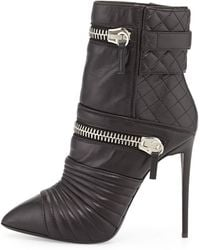 Giuseppe Zanotti Quilted Leather Doublezip Boot - Lyst