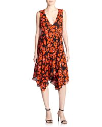 A.L.C. Nello Silk Floral Dress - Lyst
