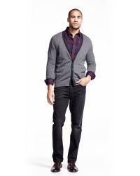 Neiman Marcus | Cashmere V-neck Button-front Cardigan W/ Contrast | Lyst