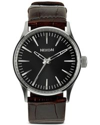 Nixon 'The Sentry 38 Leather' Watch - Lyst