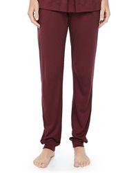 Hanro Tribeca Jersey Pleated Pants - Lyst