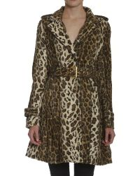 Members Only Faux Fur Cheetah Trench - Lyst
