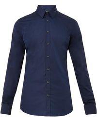 Gucci Slimfit Cotton Shirt - Lyst
