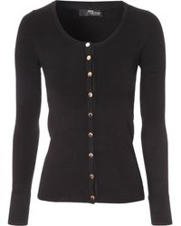 Jane Norman Scoop Neck Cardigan - Lyst