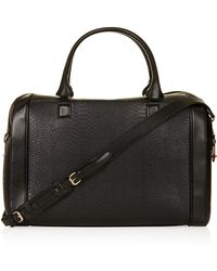 TOPSHOP - Double Zip Luggage Bag - Lyst