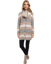 Pendleton Stripe Sweater Coat - Lyst