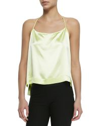 Helmut Lang Mere Satin Racerback Camisole - Lyst