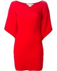 Antonio Berardi Wide Sleeve Dress red - Lyst