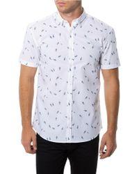 7 Diamonds Birds Of A Feather Print Sport Shirt - Lyst