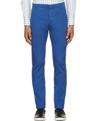 Band Of Outsiders Cobalt Blue Classic Chinos - Lyst