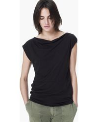 James Perse Draped Shell Top - Lyst