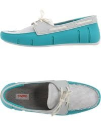 Swims Moccasins blue - Lyst