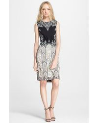 Etro Sleeveless Paisley Cady Dress - Lyst