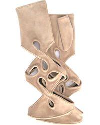 Thomasine Gloves - New York Mitaine Pleated Wrist Nude - Lyst
