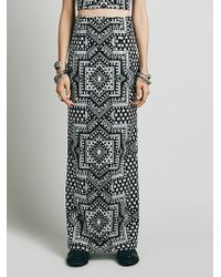 Free People High Waisted Star Jacquard Maxi - Lyst