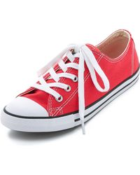 Converse Chuck Taylor All Star Dainty Sneakers - Carnival red - Lyst