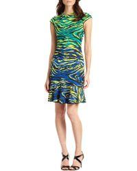 M Missoni Zebra-print Dress - Lyst
