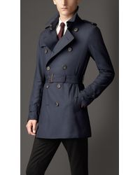Burberry Mid Length Light Weight Cashmere Trench Coat - Lyst