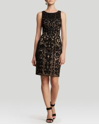Sue Wong - Dress - Sleeveless High Neck Soutache Illusion Neckline - Lyst