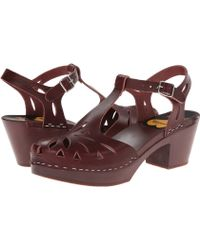 Swedish Hasbeens Purple Lacy Sandal - Lyst