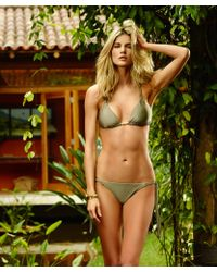 ViX Solid Shitake Macrame Tie Side Bottom green - Lyst