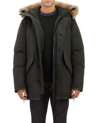 Moncler Fur-Trim Hooded Down Parka - Lyst