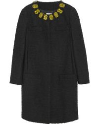 Moschino Cheap & Chic Embellished Bouclé Coat - Lyst
