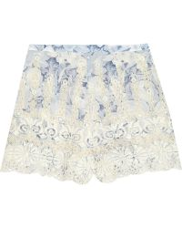 Zimmermann Confetti Embroidered Cotton-Voile Shorts - Lyst