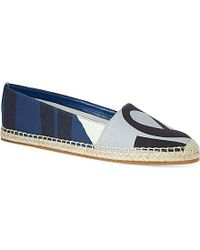 Burberry Bettany Printed Espadrilles - Lyst