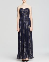 Laundry By Shelli Segal Gown  Strapless Metallic - Lyst