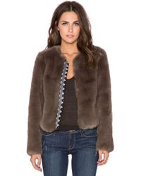 Twelfth Street Cynthia Vincent - Embroidered Placket Faux Fur Jacket - Lyst