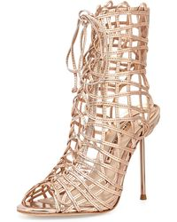 Sophia Webster Delphine Metallic Gladiator Sandal - Lyst