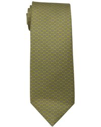 Hermès Green And Grey Floral Print Silk Tie - Lyst
