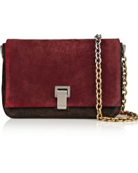Proenza Schouler Ps Courier Small Suede and Leather Shoulder Bag - Lyst