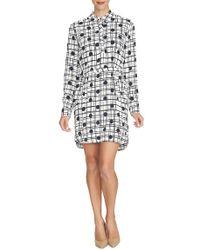 Cynthia Steffe | 'kate' Print Crepe Shirtdress | Lyst