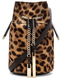 Halston Heritage Animal Print Mini Bucket Bag - Lyst