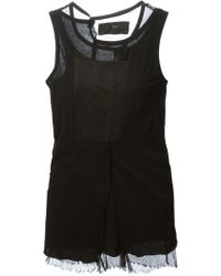 Rundholz Sheer Detail Tank Top - Lyst