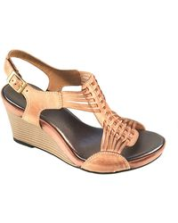 Clarks Star Gaze Leather Wedge Sandals - Lyst