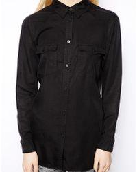 Monki Denim Shirt - Lyst