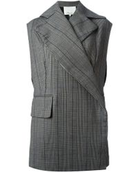 3.1 Phillip Lim Checked Sleeveless Jacket - Lyst