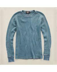 RRL Waffle-knit Crewneck Shirt - Lyst