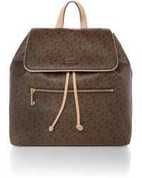 DKNY | Coated Logo Brown Backpack | Lyst