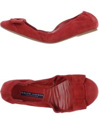 Ralph Lauren Collection Ballet Flats - Lyst
