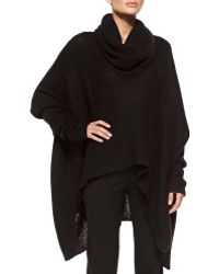 Donna Karan New York Knit Cowlneck Poncho - Lyst